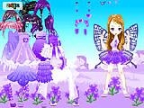 Jouer à Purple butterfly dress up