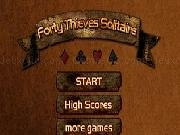 Jouer à Forty thieves solitaire