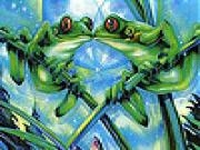 Jouer à Frogs kissing slide puzzle