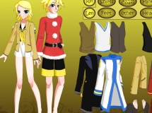 Jouer à Dress up rin and len kagamine