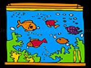 Jouer à Big aquarium and colorful fishes coloring
