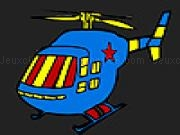 Jouer à Blue hot helicopter coloring