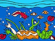 Jouer à Ocean and colorful fishes coloring