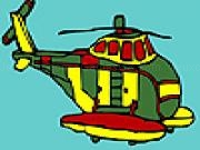 Jouer à Big military helicopter coloring