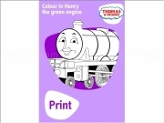 Jouer à Thomas henry the green engine coloring