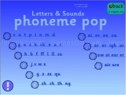 Jouer à Letters and sounds - phoneme pop