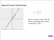 Jouer à Span and linear combinations 2