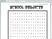 Jouer à Subjects wordsearch