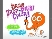 Jouer à Drag and drop and print color - fathers day