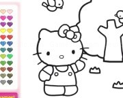 Jouer à Hello kitty coloriage