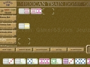 Jouer à Mexican train dominoes