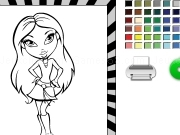 Jouer à Bratz coloring and print it