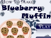 Jouer à How to make blueberry muffins