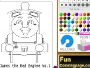 Jouer à James the red engine coloring