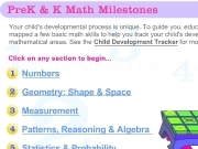 Jouer à Prek and K math milestones