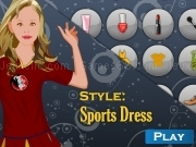 Jouer à Shop and dress makeup matching game - sports dress