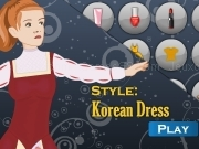 Jouer à Shop and dress makeup matching game - Korean dress