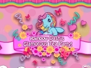 Jouer à Rainbow dashs glamorous tea party