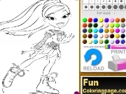 Jouer à Bratz coloring pages