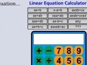 Jouer à Linear equation calculator