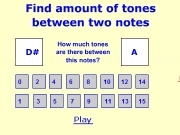 Jouer à Find amount of tones between two notes