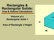 Jouer à Area and volume calculations - rectangles and rectangular solids