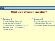 Jouer à Emission inventory quiz
