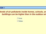 Jouer à Pollutants inside homes