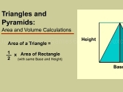 Jouer à Area and volume calculations - triangles and pyramids
