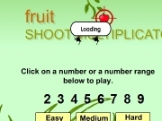 Jouer à Fruit shoot multiplication