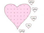 Jouer à Sight words word search heart