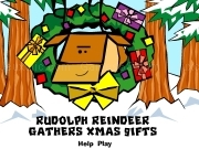 Jouer à Rudolph reindeer gathers xmas gifts
