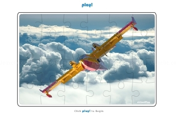 Jouer à Jigsaw Puzzle Yellow Plane Clouds