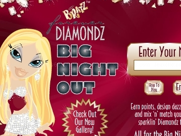 Jouer à Bratz diamondz big night out